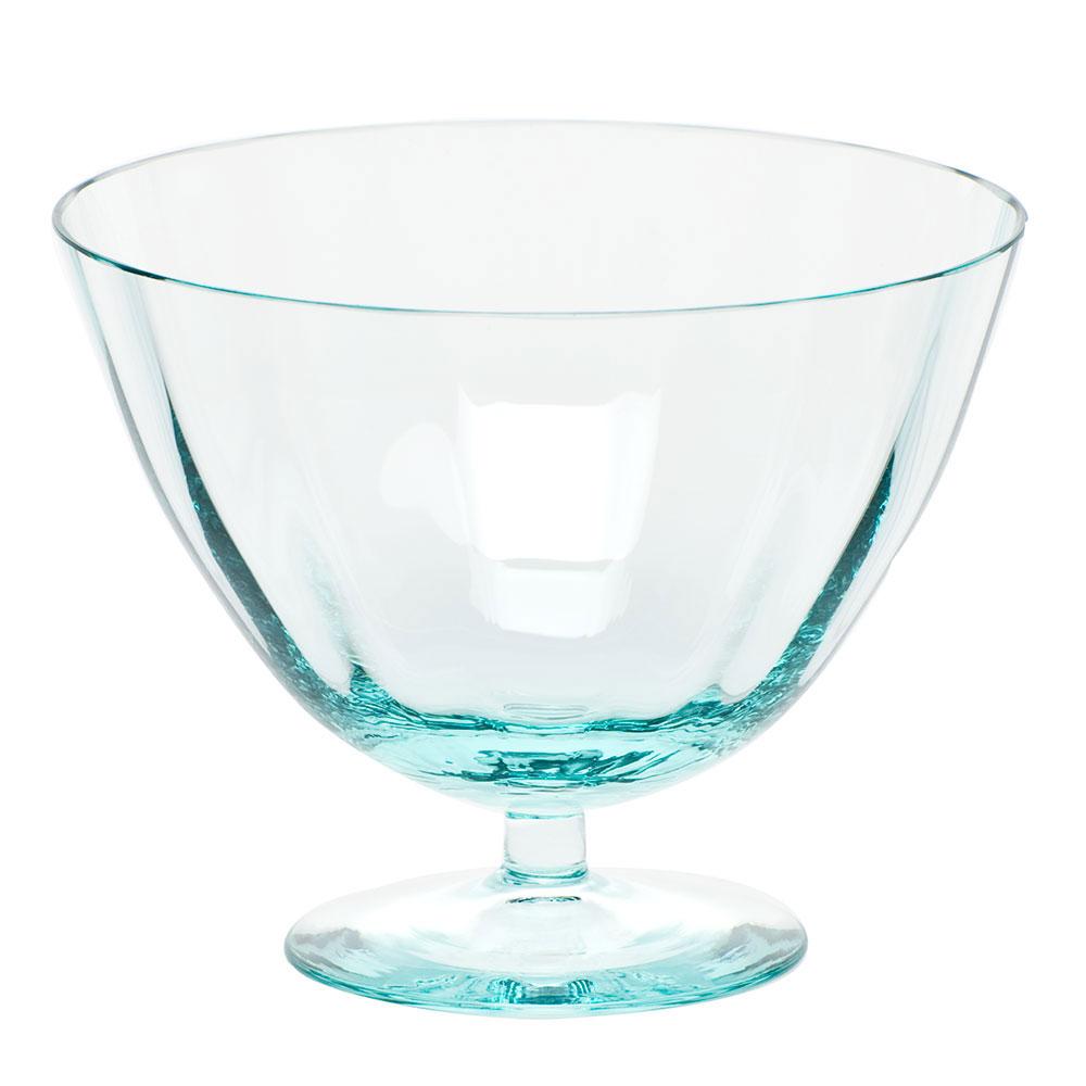 """Moser Crystal Optic Footed Bowl 5.1"""" Beryl"""