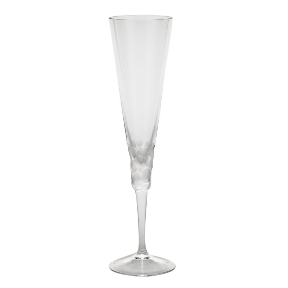 Moser Crystal Pebbles Champagne Flute, Clear, Single