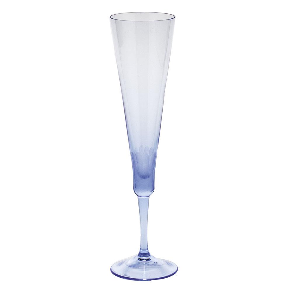 Moser Crystal Pebbles Champagne Flute, Alexandrite Purple, Single