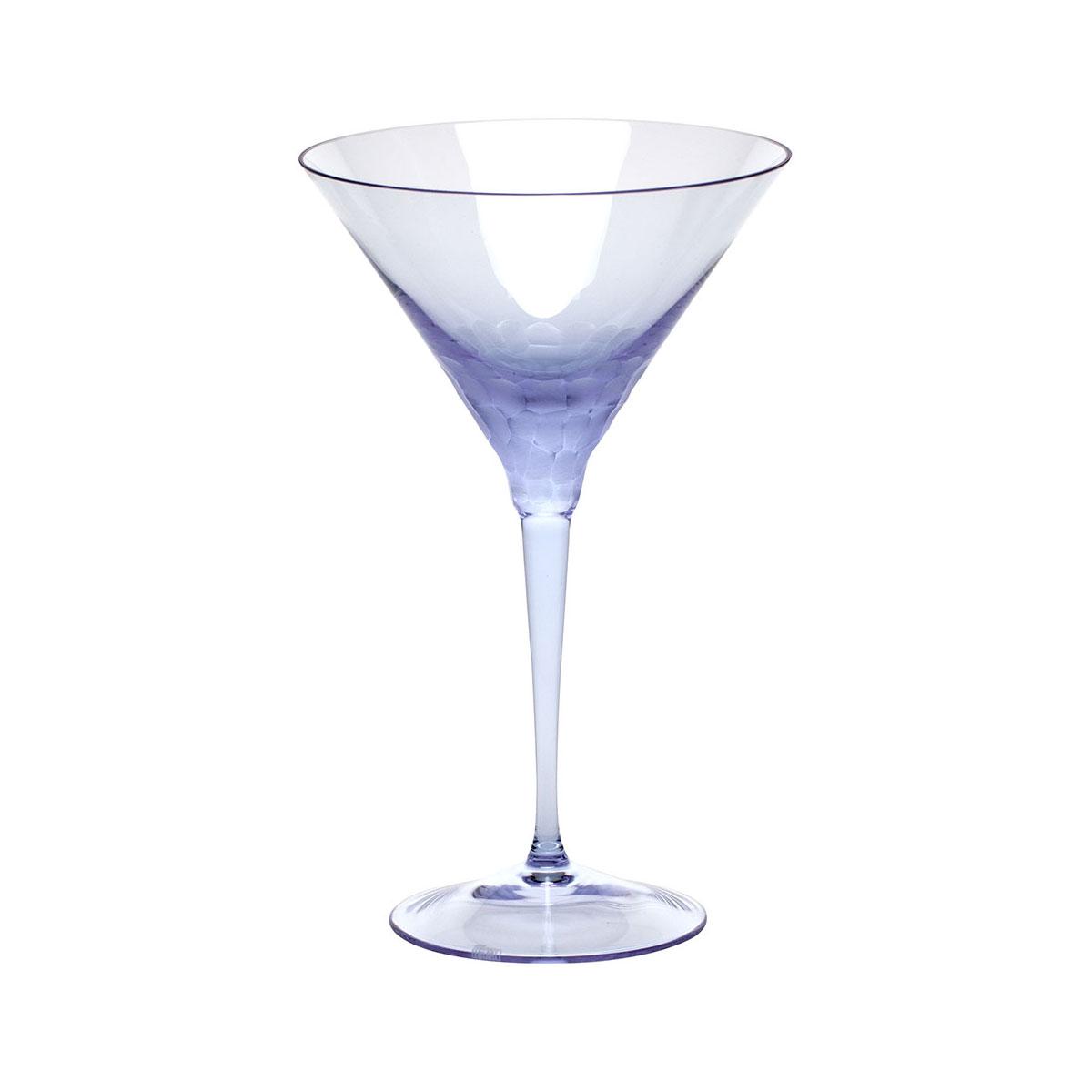 Moser Crystal Pebbles Martini Glass, Alexandrite Purple, Single