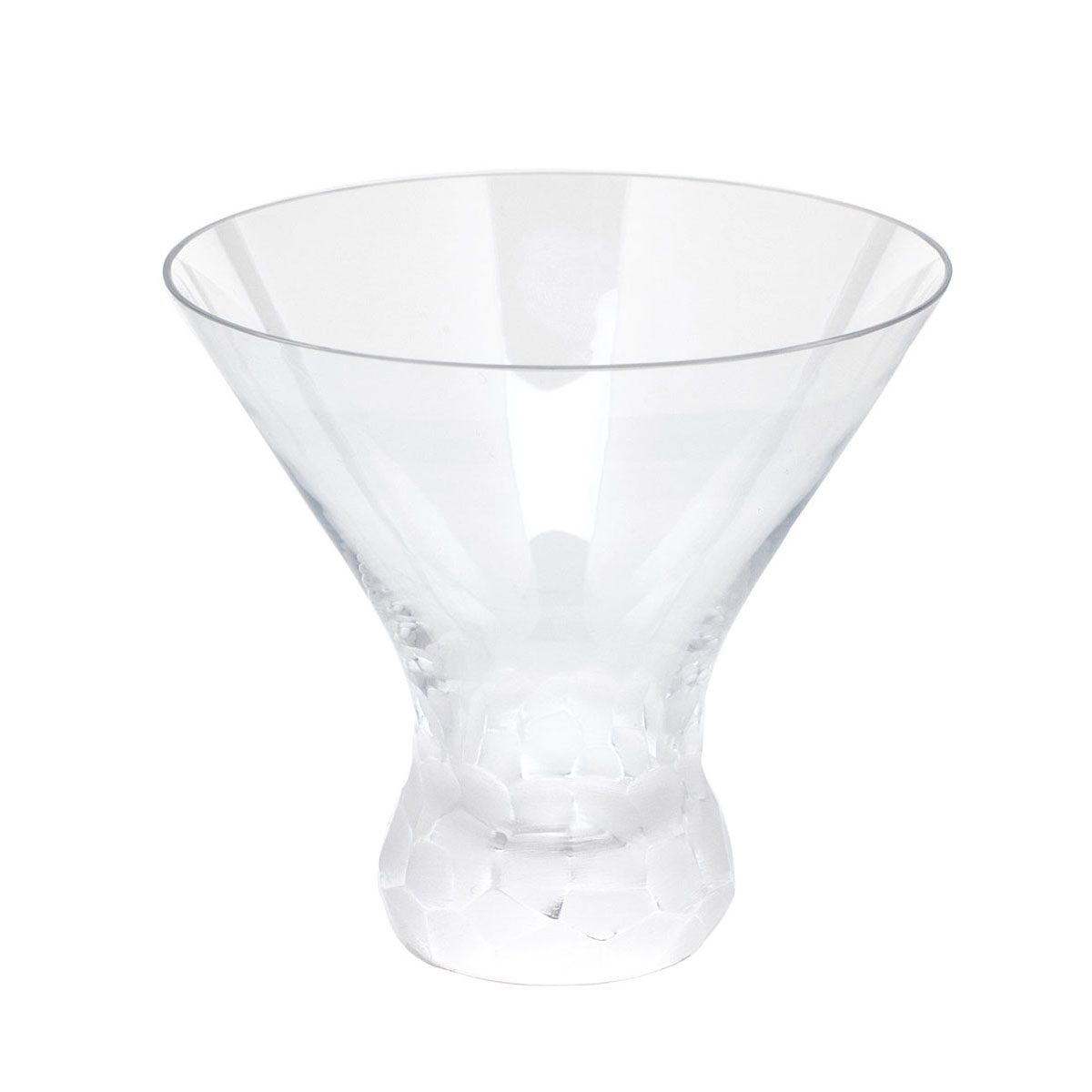 Moser Crystal Pebbles Stemless Martini Glass, Clear, Single