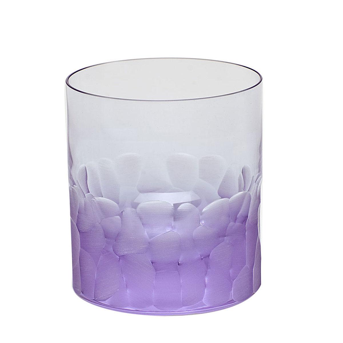 Moser Crystal Pebbles DOF Tumbler, Alexandrite Purple, Single