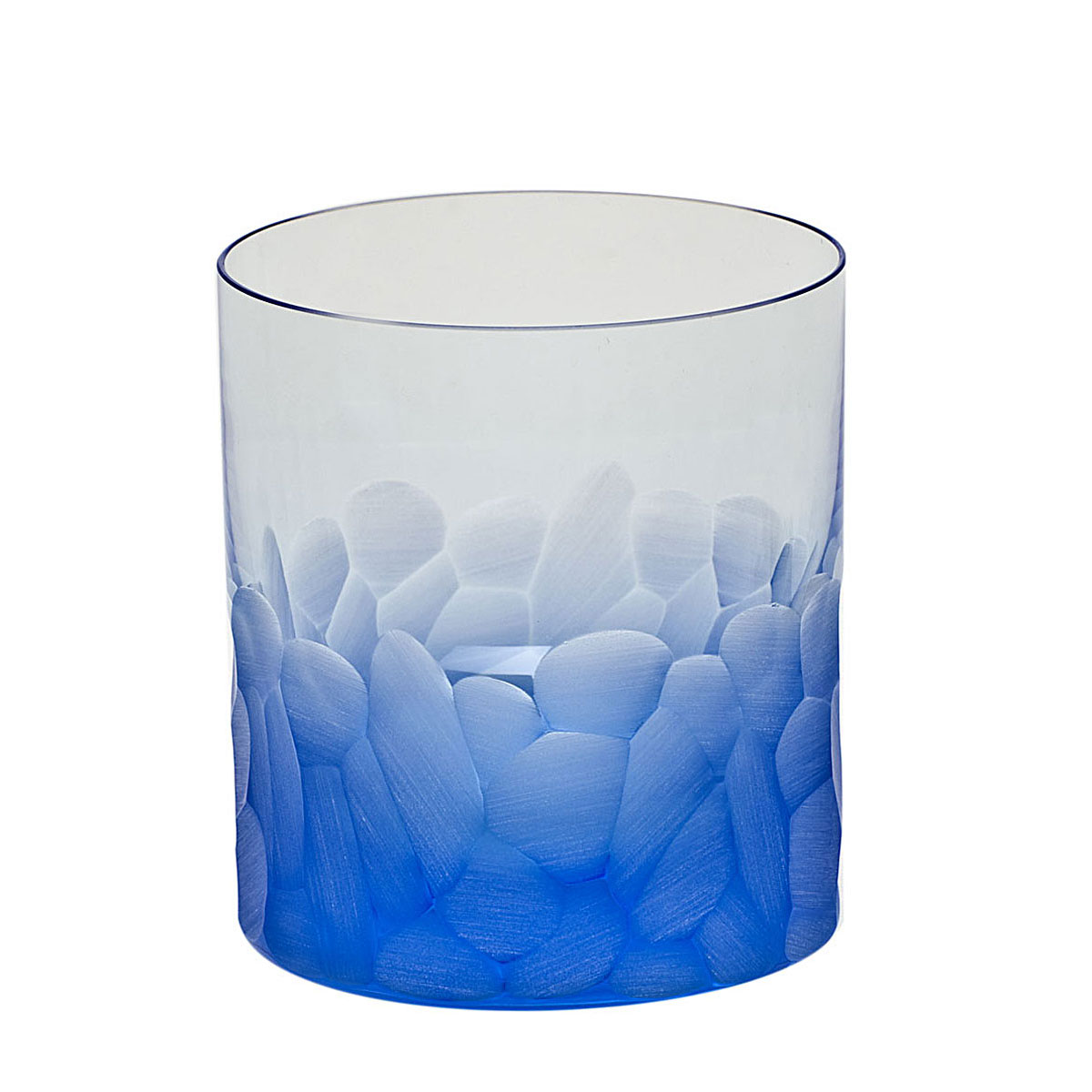 Moser Crystal Pebbles DOF Tumbler, Aquamarine, Single