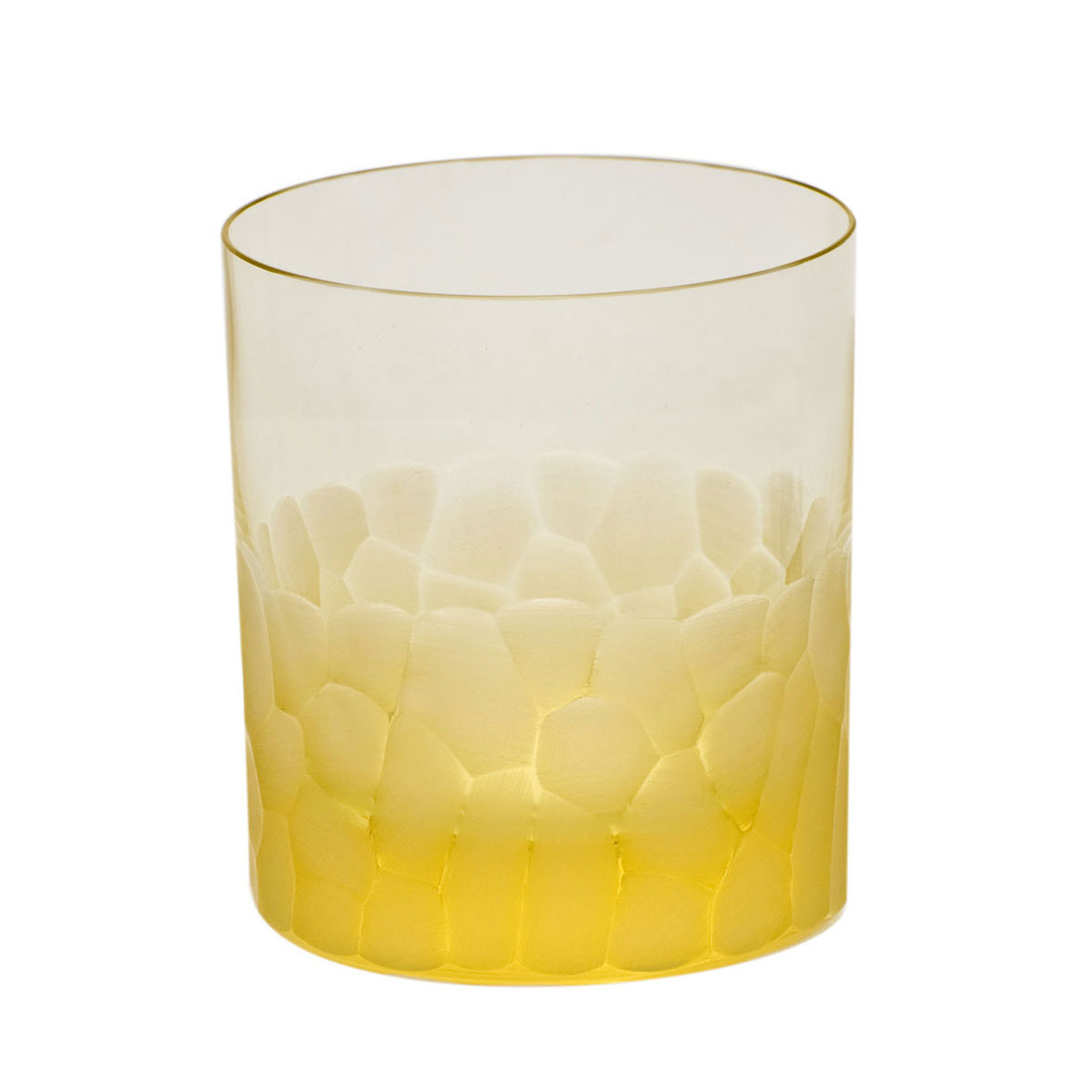 Moser Crystal Pebbles DOF Tumbler, Eldor Yellow, Single