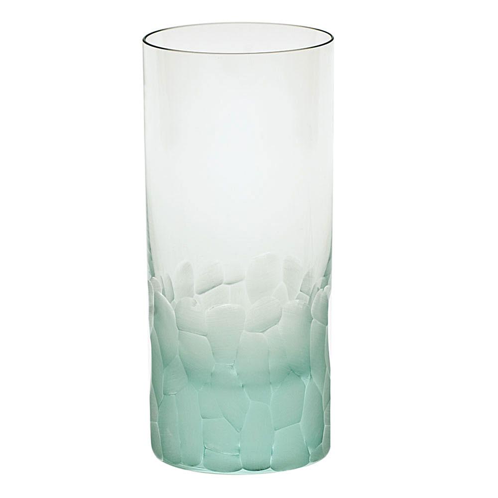 Moser Crystal Pebbles Hiball Glass, Beryl Green, Single