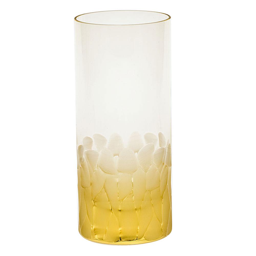 Moser Crystal Pebbles Hiball Glass, Eldor Yellow, Single
