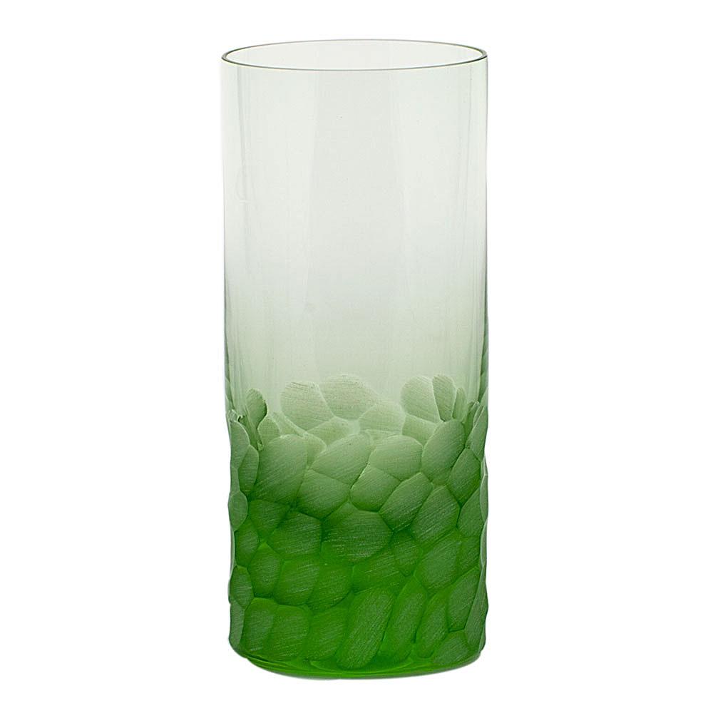 Moser Crystal Pebbles Hiball Glass, Ocean Green, Single
