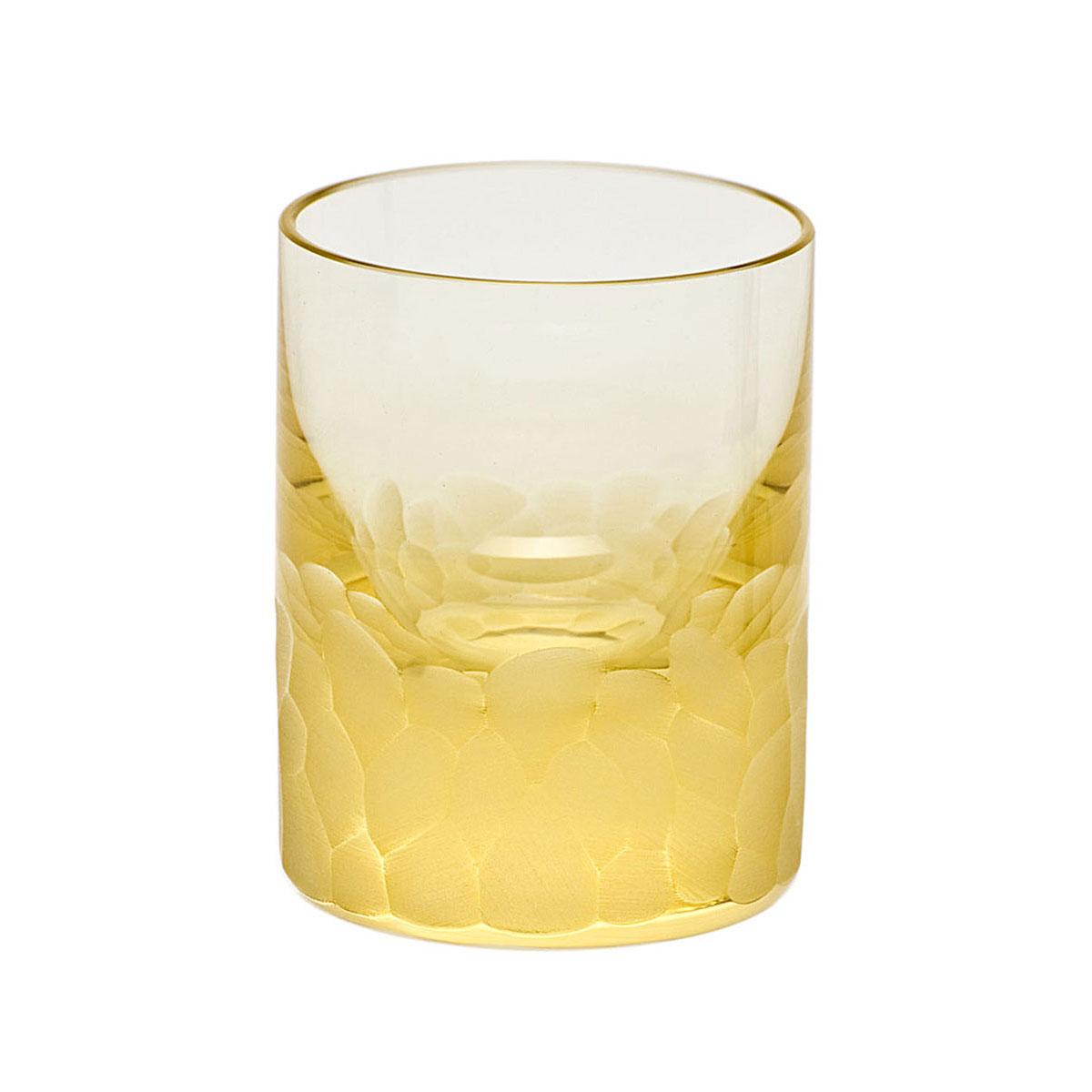 Moser Crystal Pebbles Shot Glass, Eldor Yellow, Single