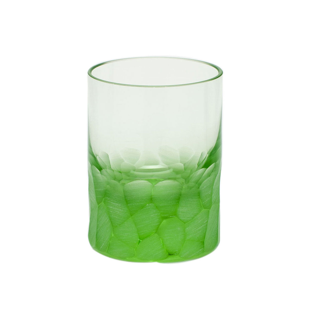 Moser Crystal Pebbles Shot Glass Ocean Green, Single
