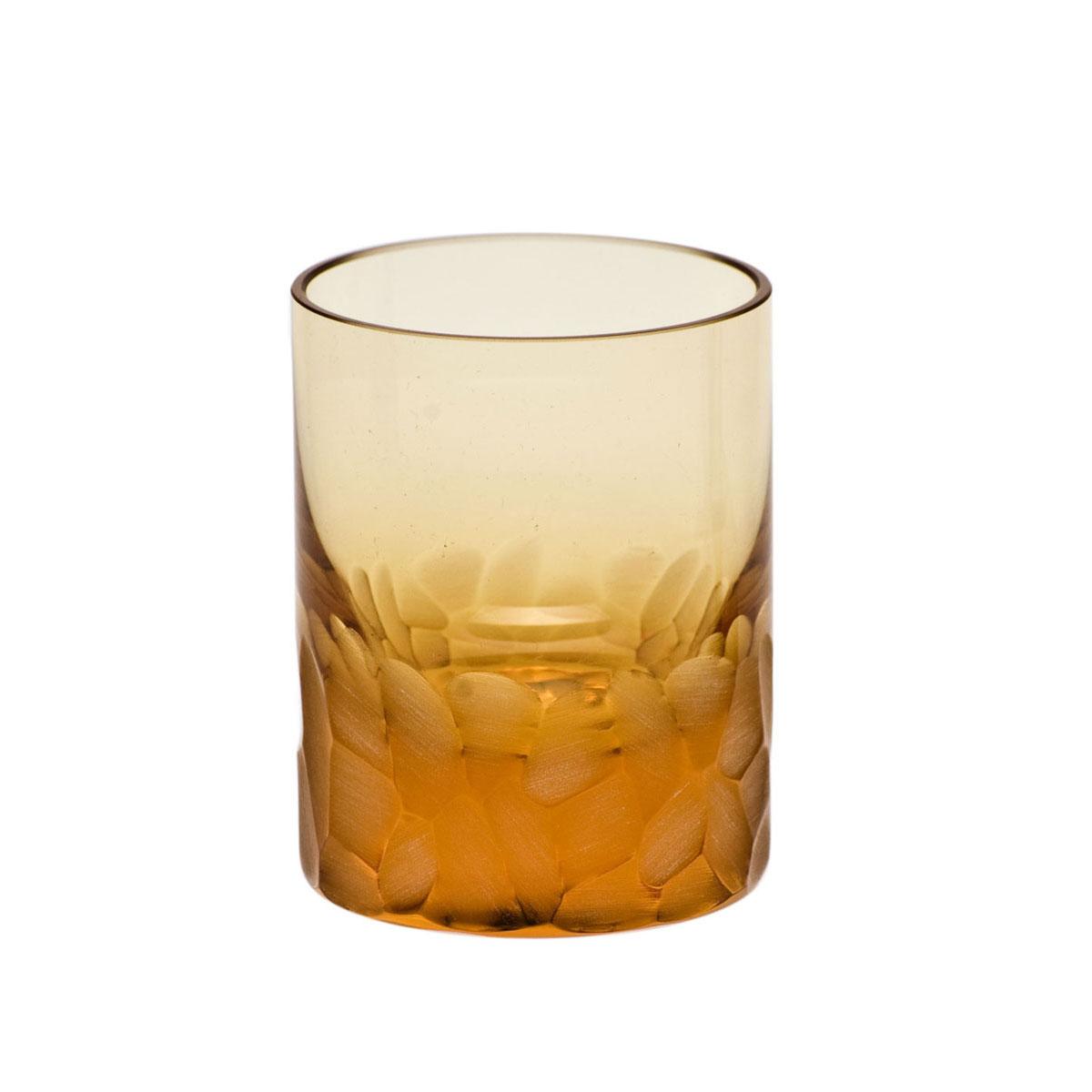 Moser Crystal Pebbles Shot Glass Topaz, Single