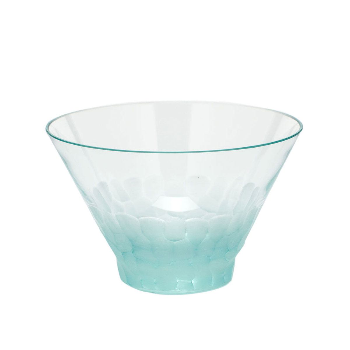 Moser Crystal Pebbles Small Bowl, Beryl Green
