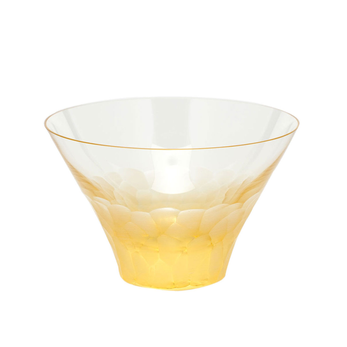 Moser Crystal Pebbles Small Bowl, Eldor Yellow