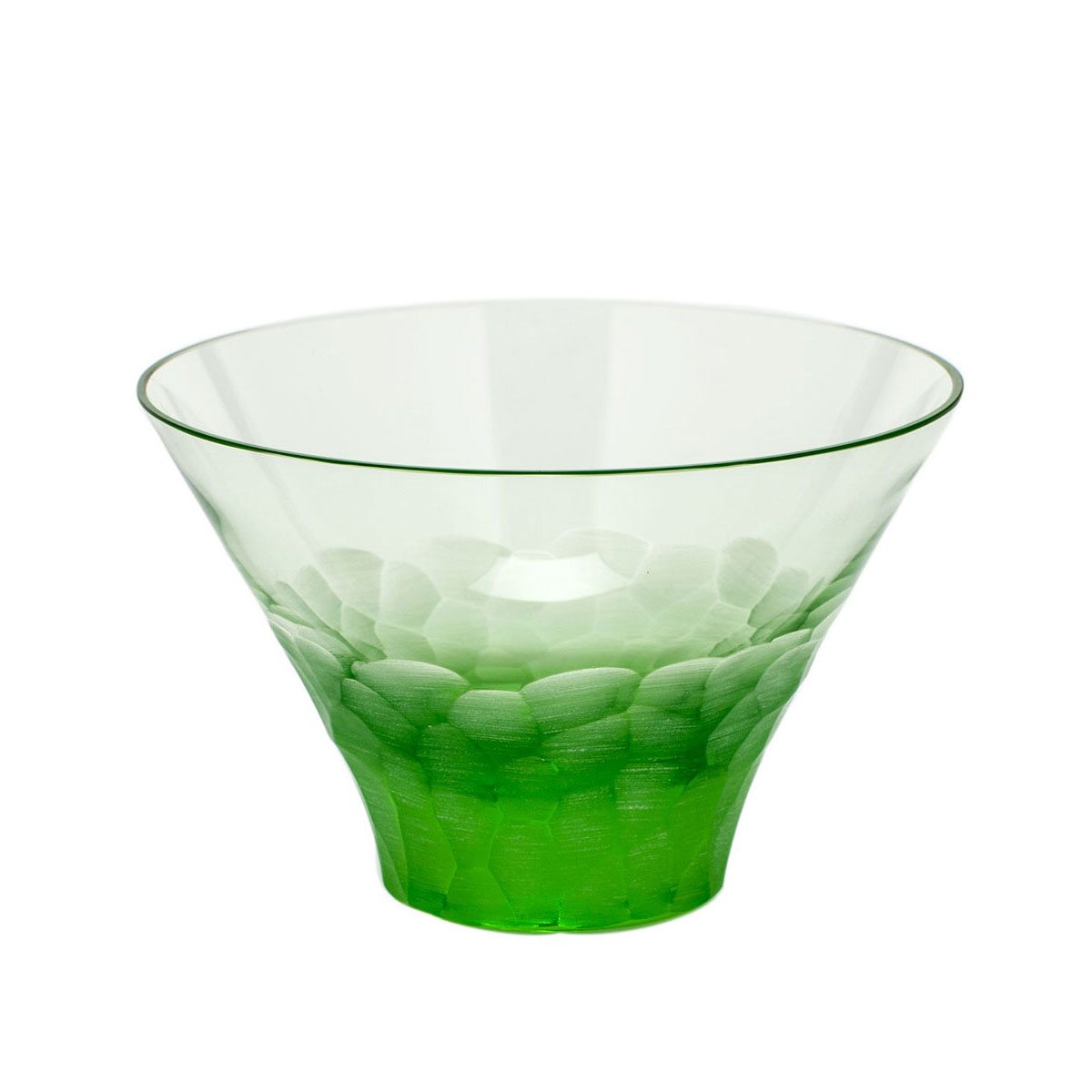 Moser Crystal Pebbles Small Bowl, Ocean Green