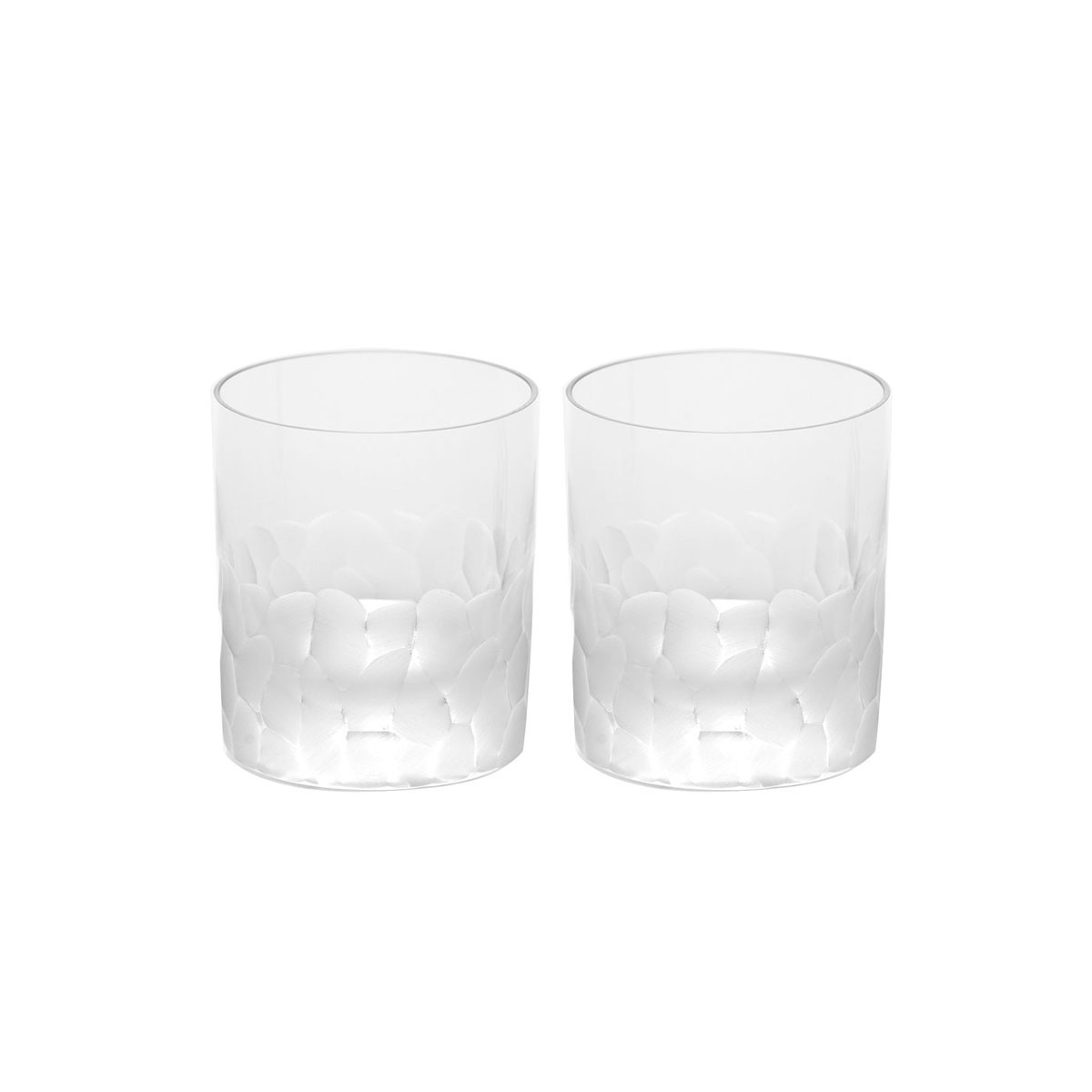 Moser Crystal Pebbles DOF Tumbler Pair, Clear
