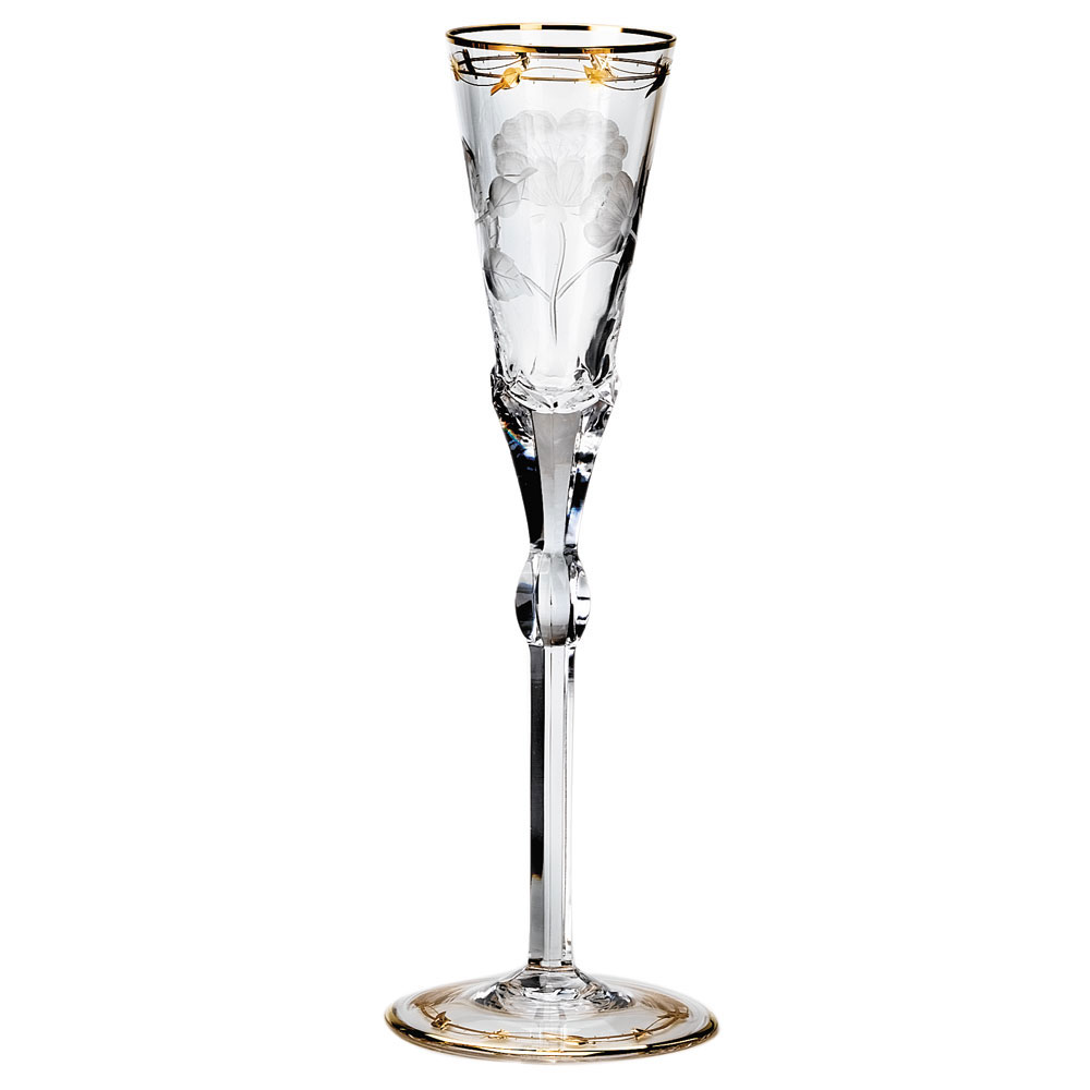 Moser Crystal Paula Champagne Flute, Single
