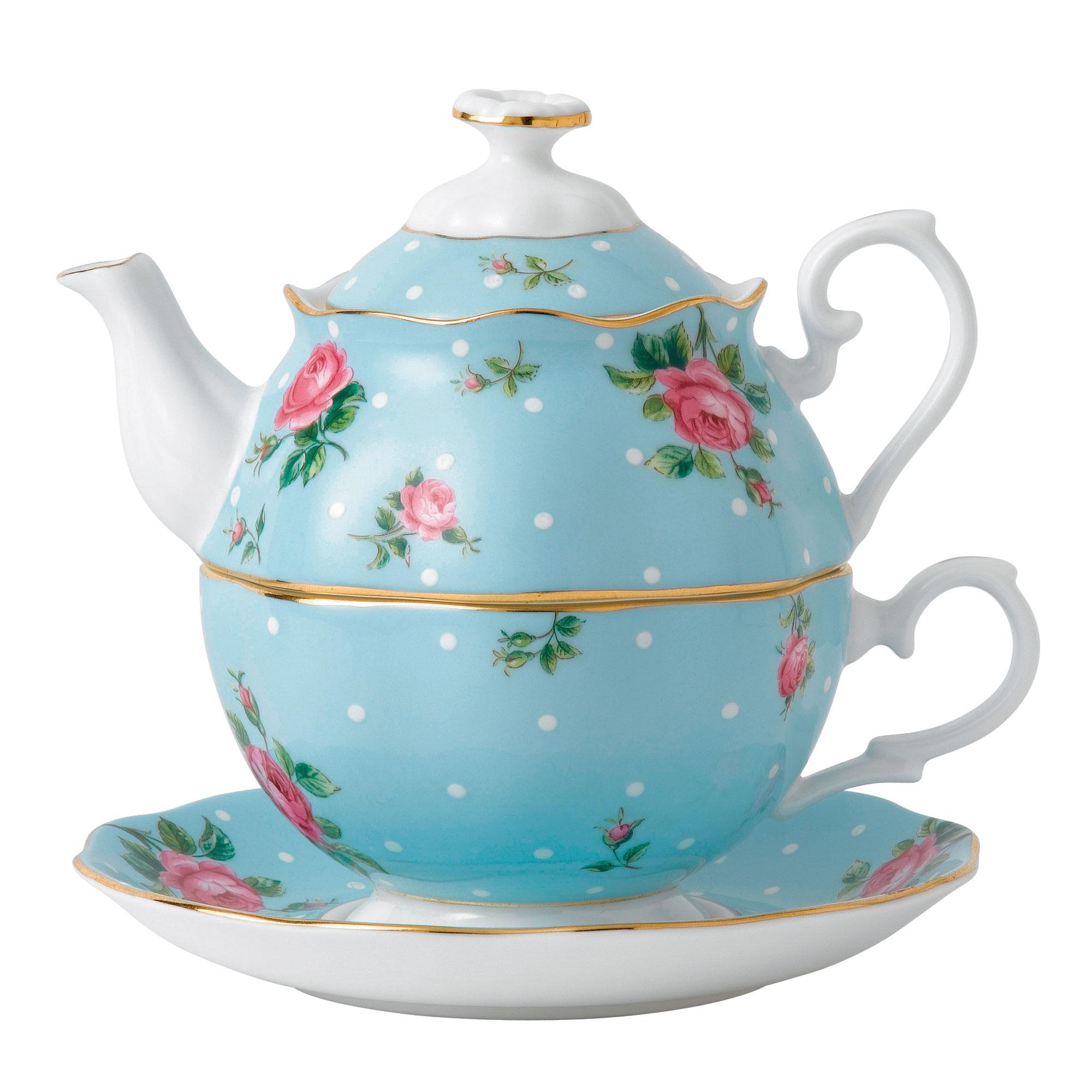Royal Albert China Polka Blue Tea For One