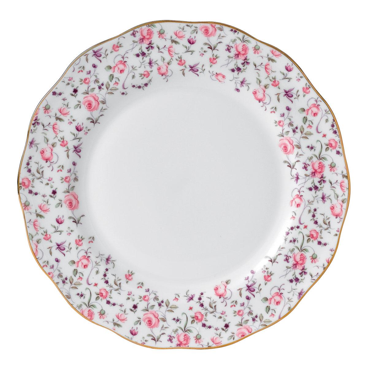 """Royal Albert Rose Confetti Dinner Plate 10.5"""""""