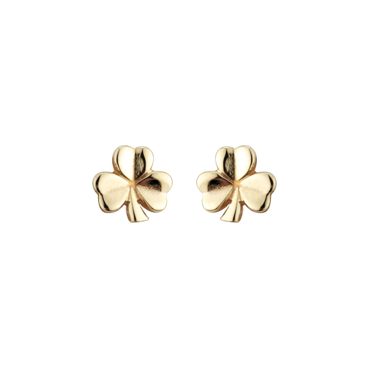 Cashs Ireland, 18K Gold-Plated Shamrock Pierced Earrings Pair