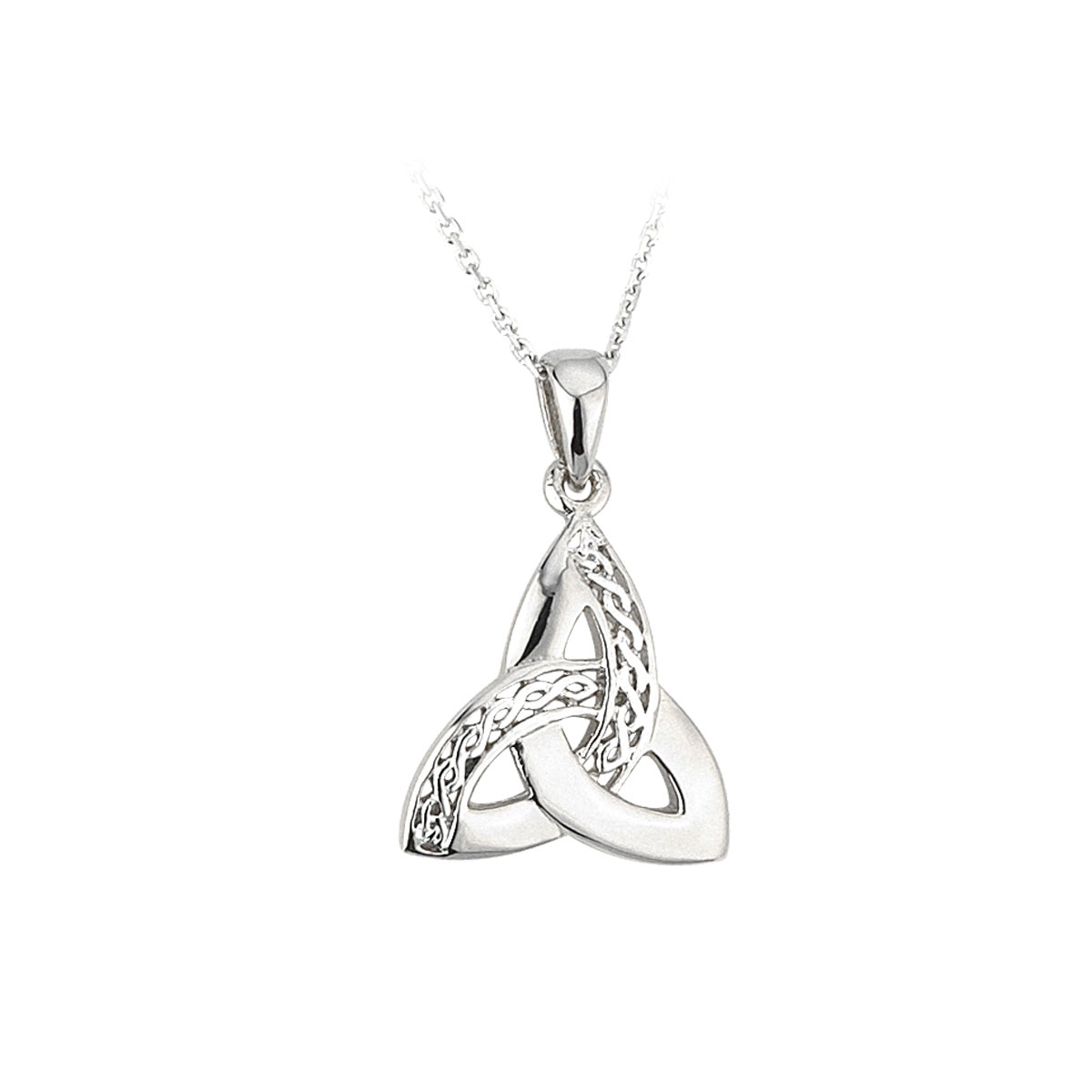 Cashs Ireland, Sterling Silver Celtic Trinity Knot Pendant