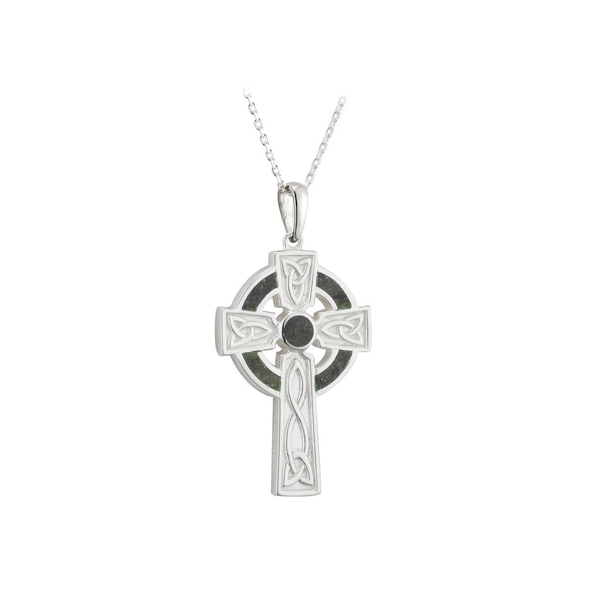 Cashs Ireland, Sterling Silver Connemara Marble Pendant
