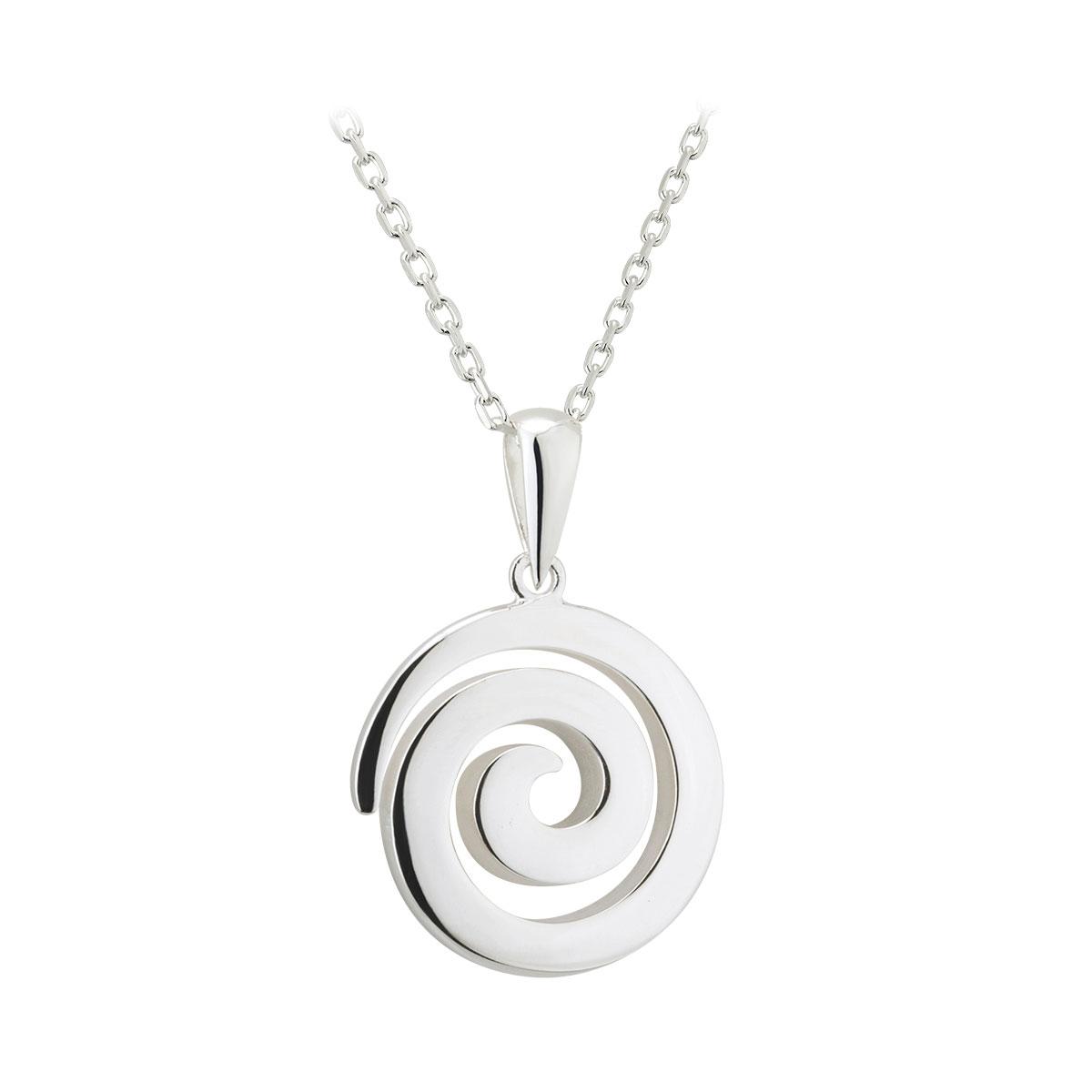 Cashs Ireland, Sterling Silver Celtic Spiral Pendant