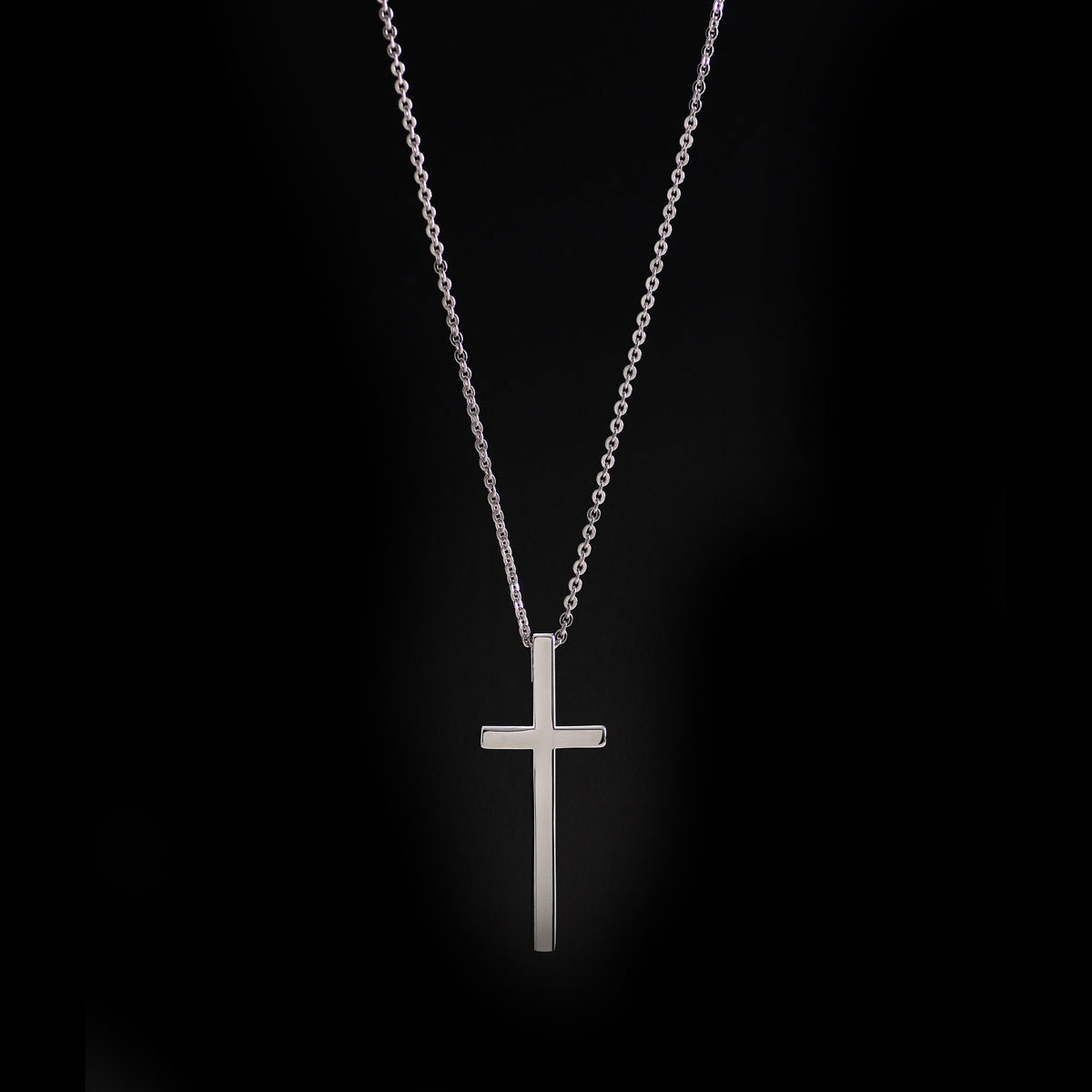 Cashs Ireland, Sterling Silver Manach Cross Pendant Necklace