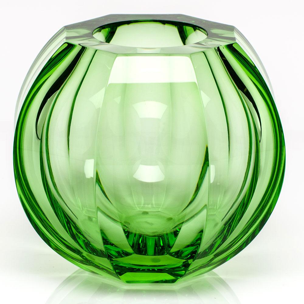 "Moser Crystal Beauty 5.9"" Vase, Ocean Green"