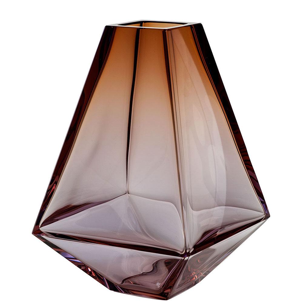 "Moser Crystal City Vase 11.8"" Alexandrite and Aurora"