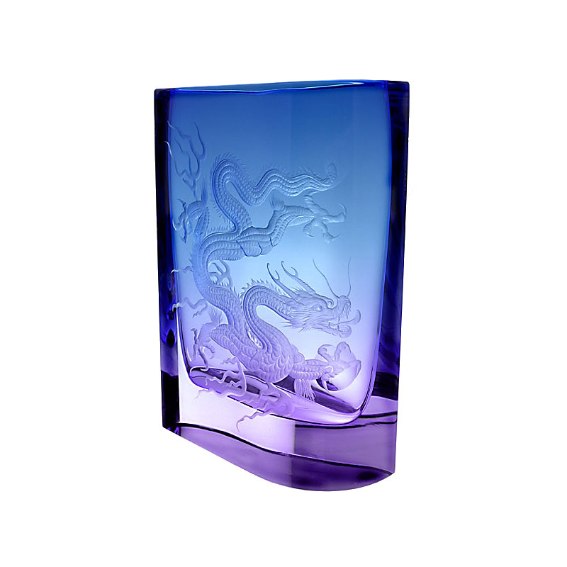 "Moser Crystal 11.8"" Dragon Vase, Limited Edition"