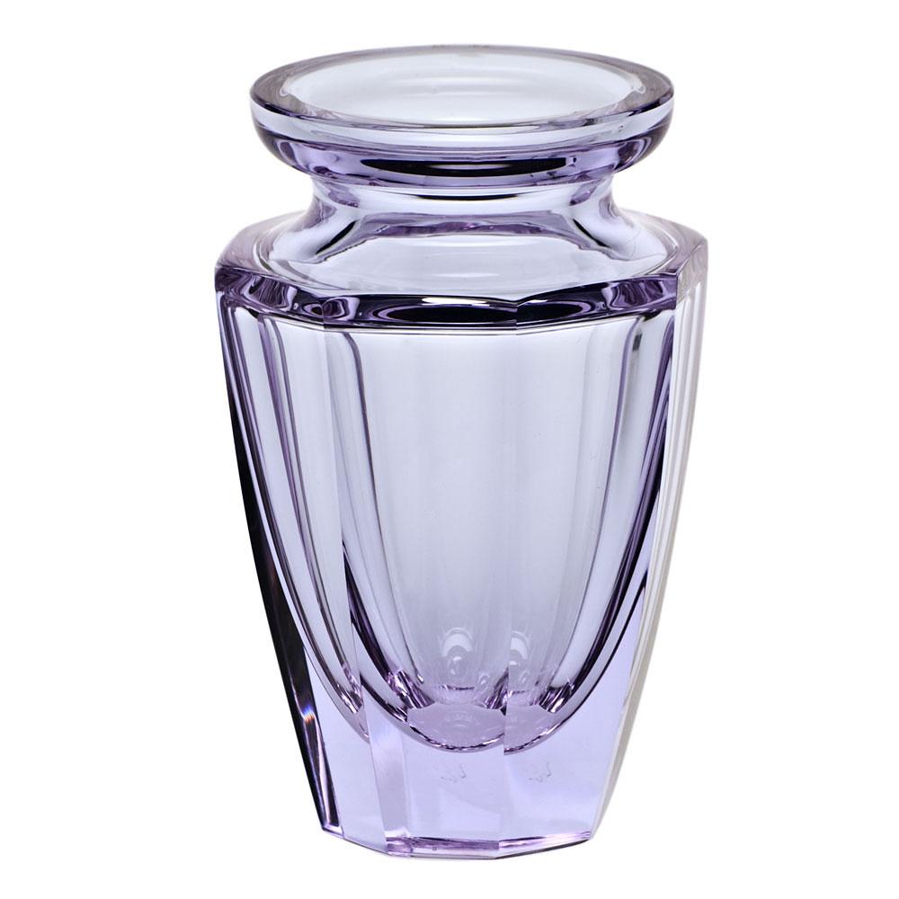 "Moser Crystal Eternity Bud Vase 4.5"" Alexandrite"