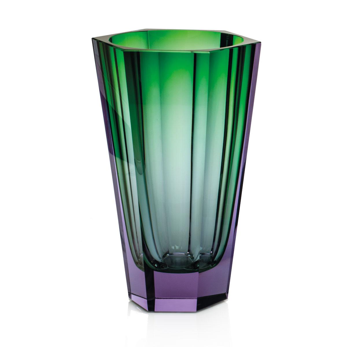 "Moser Purity 11"" Vase Alexandrite Green"