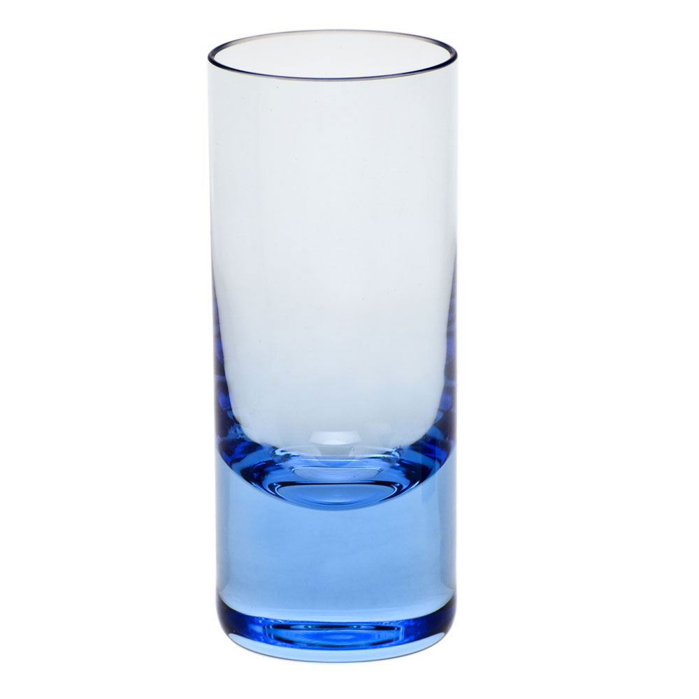 Moser Crystal Vodka Shot Glass, Aquamarine