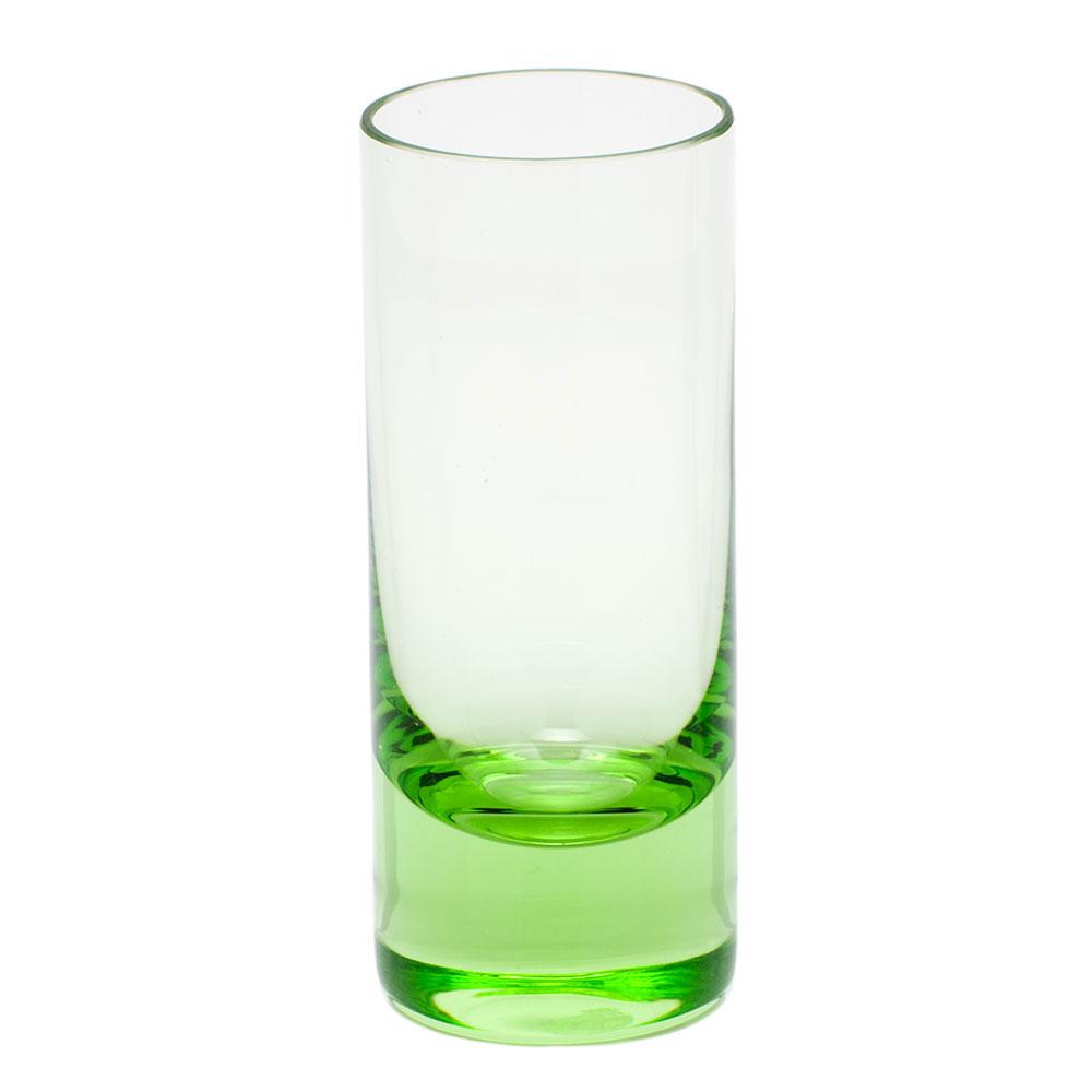 Moser Crystal Vodka Shot Glass, Ocean Green