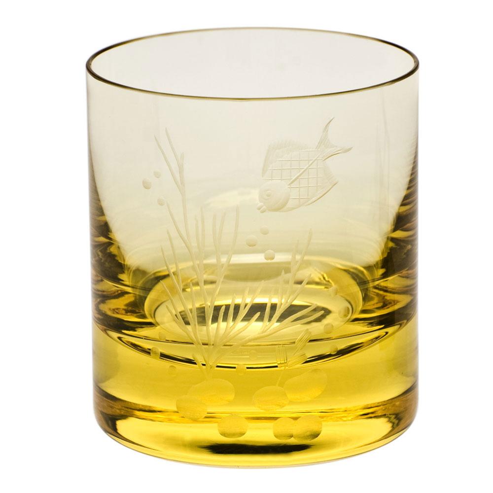 Moser Crystal Whiskey D.O.F. 12.5 Oz. Ocean Life #2 - Eldor