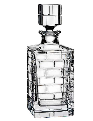 Rogaska Crystal, Quoin Square Crystal Decanter