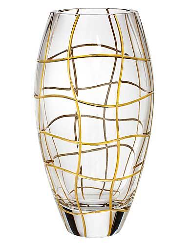 """Rogaska Magic Night Gold 12"""" Vase"""
