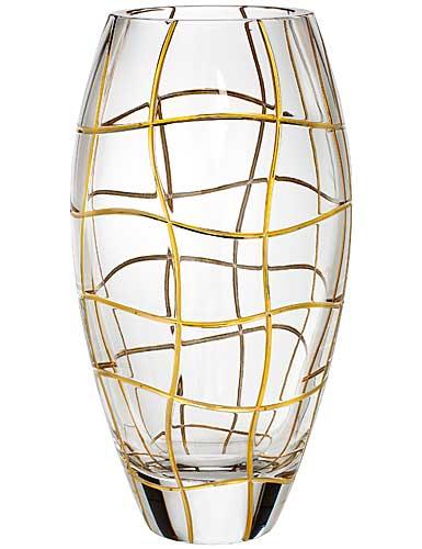 """Rogaska Magic Night Gold 10"""" Vase"""