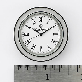 Waterford Silver, Tone Crystal Clock Face Insert, Small 1 1/2""