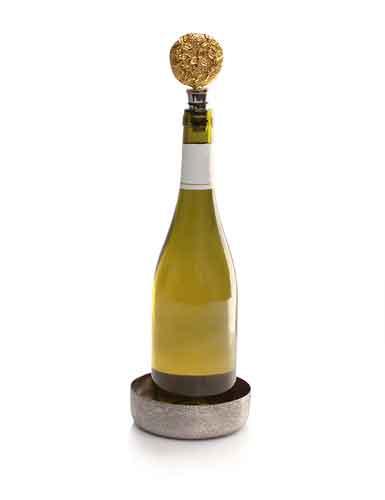 Michael Aram Bittersweet Wine Coaster and Stopper Set