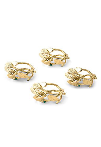 Michael Aram Mistletoe Napkin Ring Set Set of 4