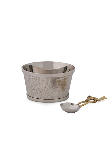 Michael Aram Ivy and Oak Nut Dish with Spoon