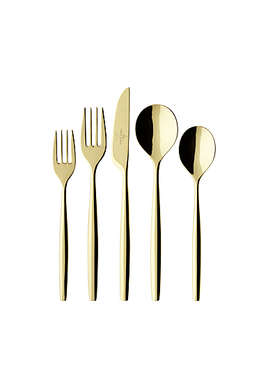 Villeroy and Boch Flatware MetroChic d'Or 5 Piece Place Setting