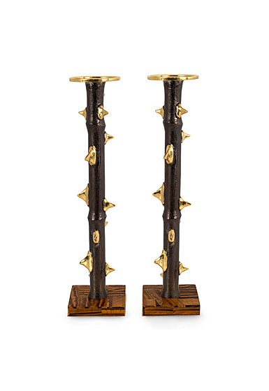 Michael Aram Thorn Luxe Candleholders Pair Special Edition