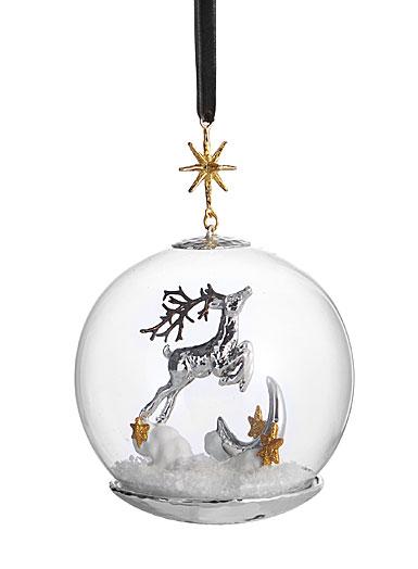Michael Aram Reindeer Snow Globe Ornament