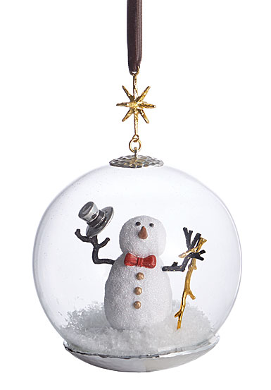 Michael Aram 2018 Snowman Snow Globe Ornament