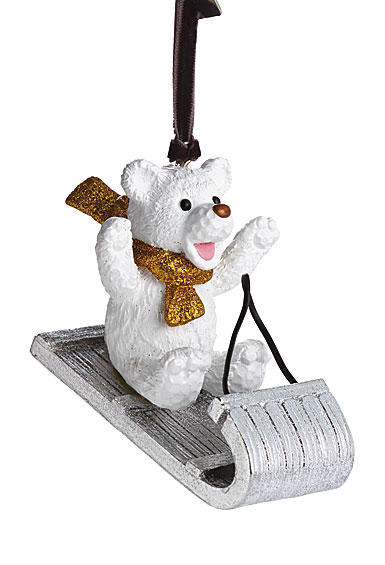 Michael Aram Sledding Teddy Ornament