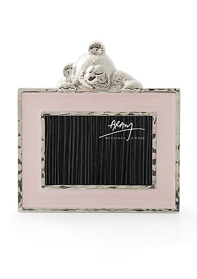 """Michael Aram Teddy 2x3"""" Picture Frame, Pink"""