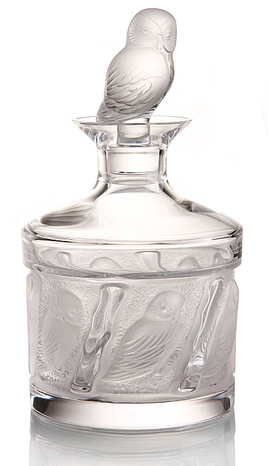 Lalique Owl Decanter