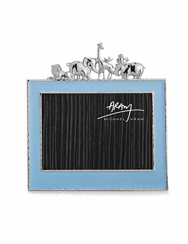 "Michael Aram Children Animals 5x7"" Photo Frame, Blue"