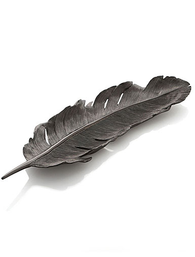 Michael Aram Flights Of Fancy Black Feather Tray